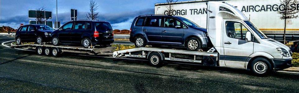 Kolejność działań podczas transportu samochodu na lawecie